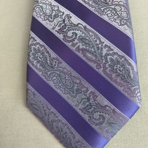 STACY ADAMS Lilac and Silver Necktie